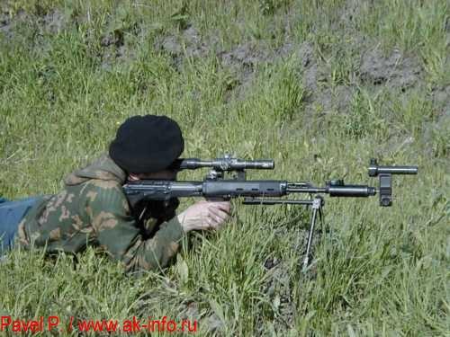 Применение СКВ 1П61 для выверки оптического прицела ПСО-1М2 на винтовке СВУ