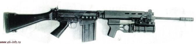ГП-30У на винтовке ФН ФАЛ (Бельгия)