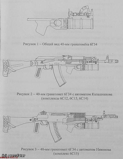Общий вид АК74М+ГП-34