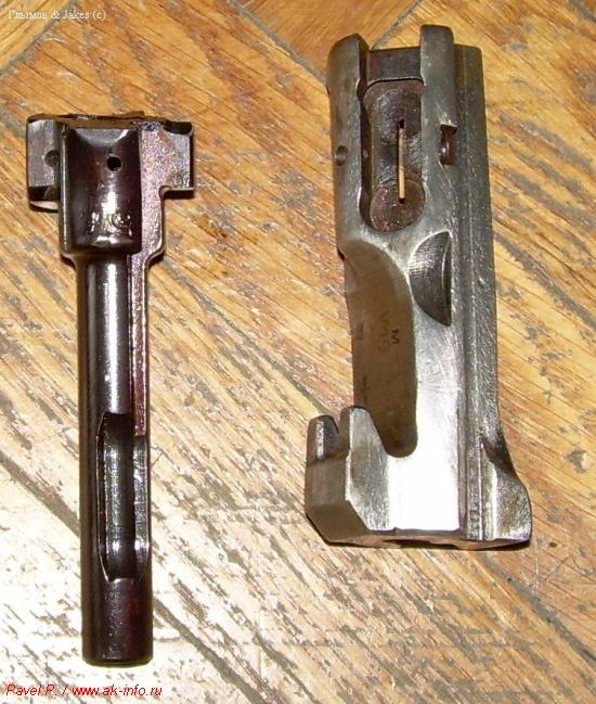 ММГ затворов (АК слева)