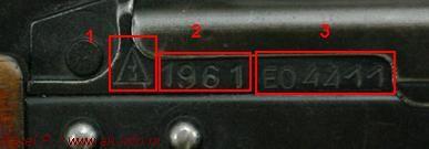 Основная схема прочтения и трактовки клейм, маркировок, номера автоматов Калашникова АКМ/АКМС