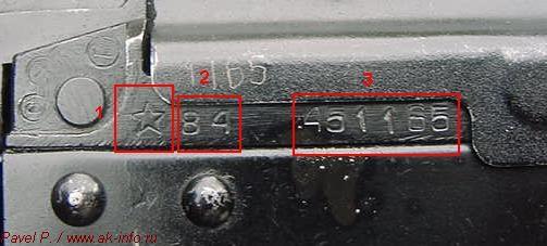 Основная схема прочтения и трактовки клейм, маркировок, номера автоматов Калашникова АКС74У