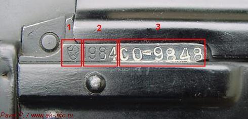 Основная схема прочтения и трактовки клейм, маркировок, номера автоматов Калашникова различных модификаций и ручных пулеметов Калашникова различных модификаций